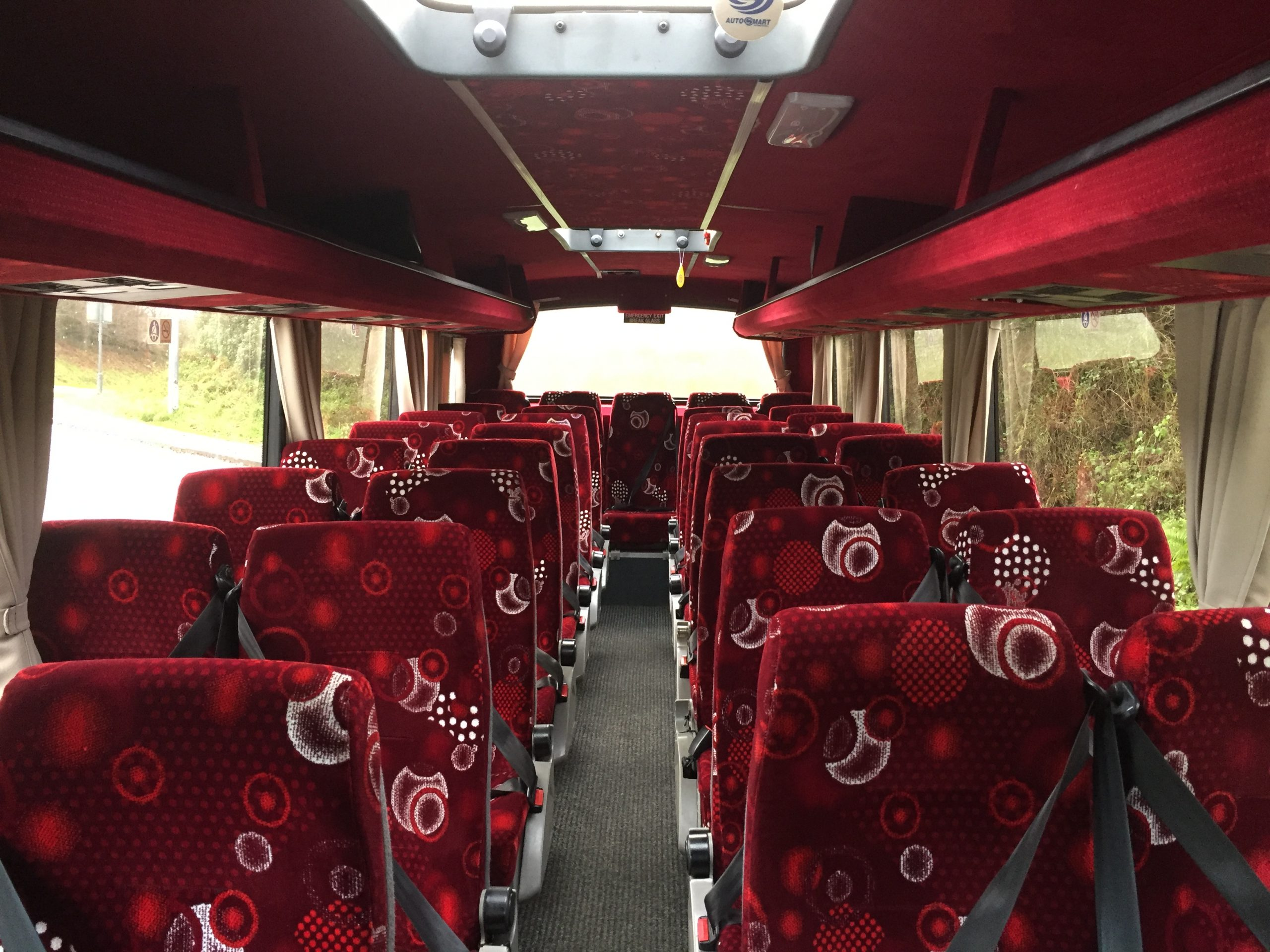 Interior of 33 Seater Coach