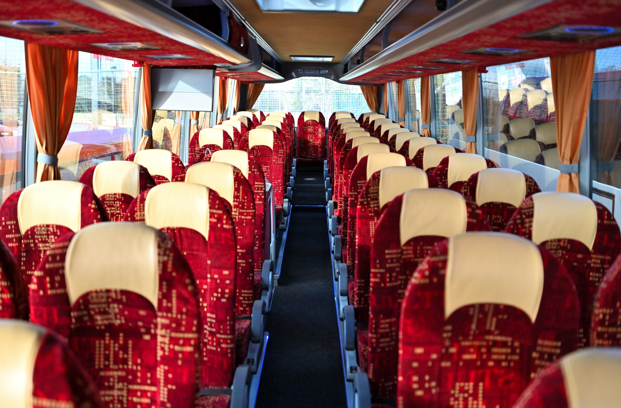 Interior of 57 Seat Executive Tourer Coach YJ15