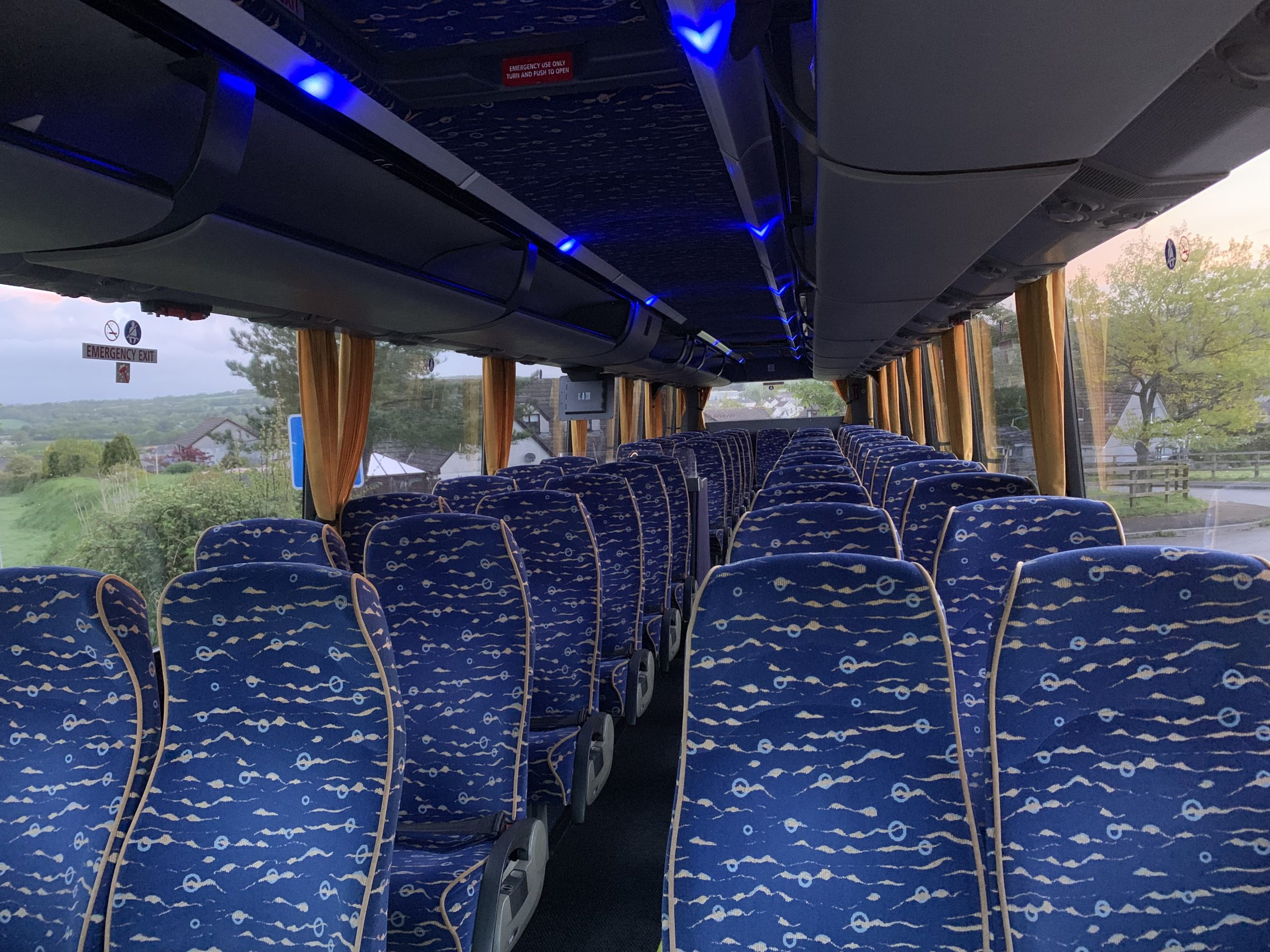 Interio of 53 Seat Executive Coach